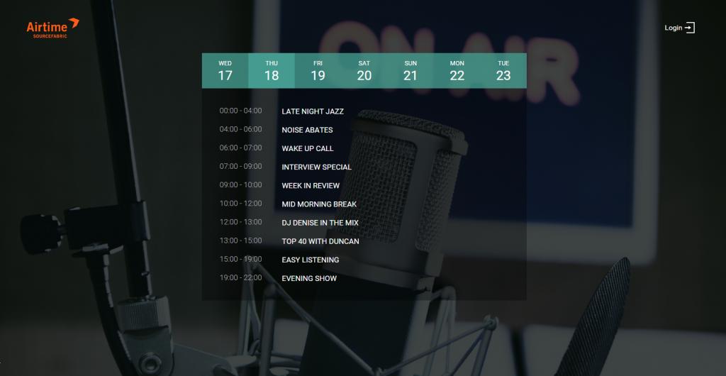 Radio Page - Airtime Pro