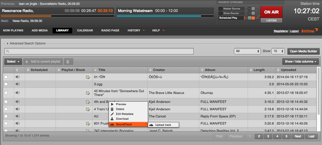 We're pleased to announce SoundCloud integration for Airtime Pro!