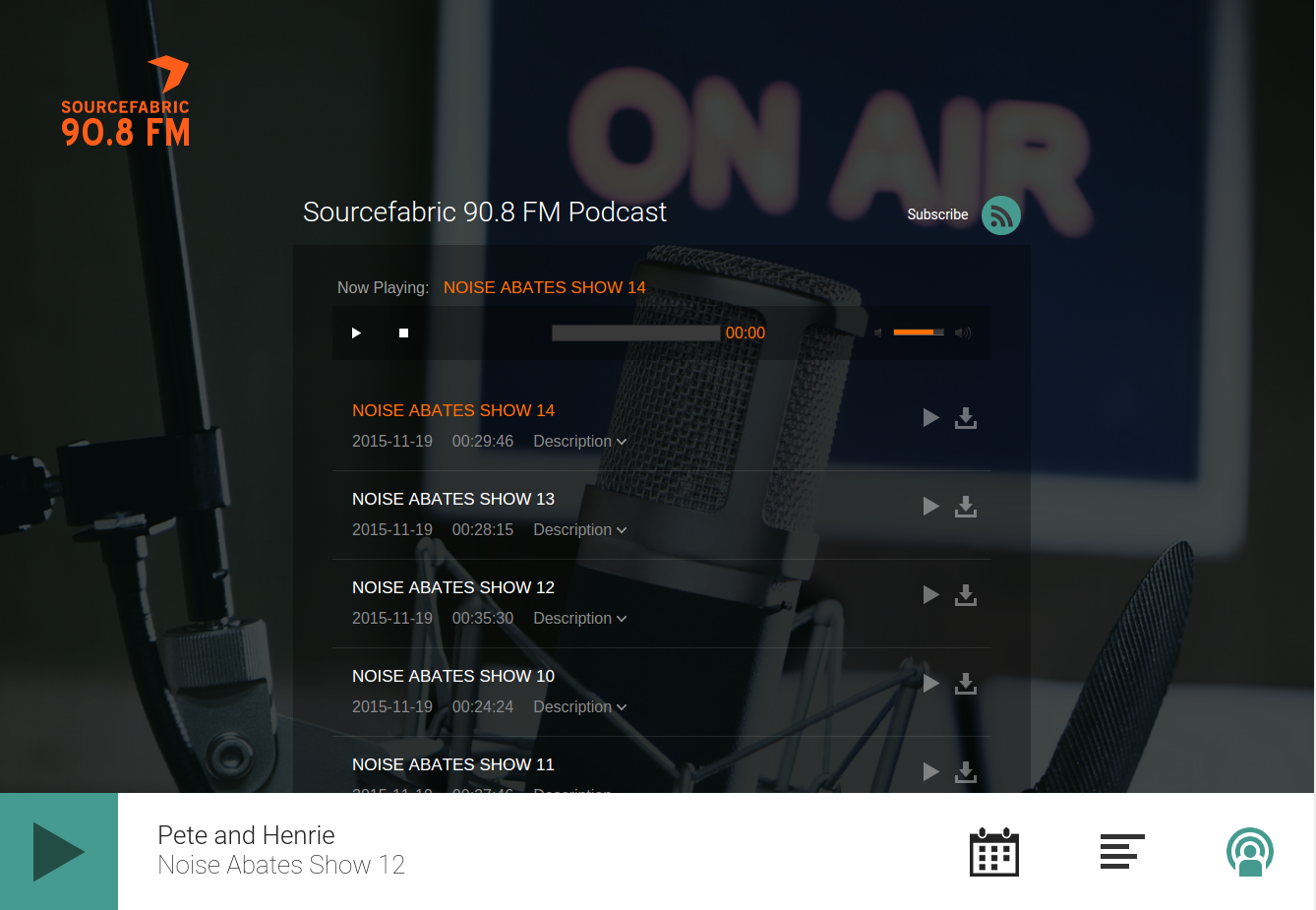 Show off your station with a built-in dedicated radio player page.