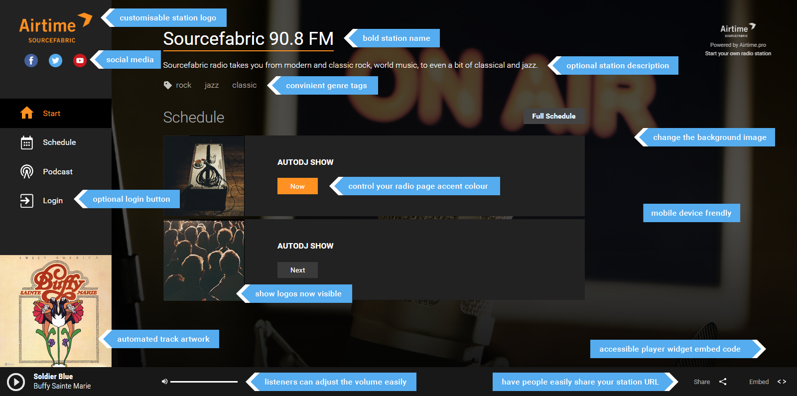How To Customise Your Airtime Pro Radio Page