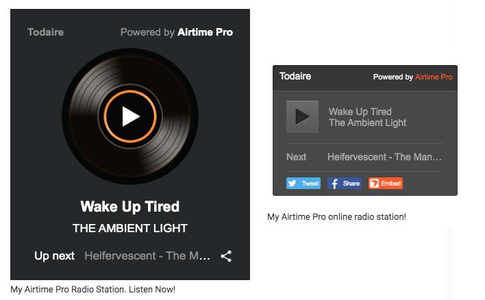 Airtime Pro Radio Players